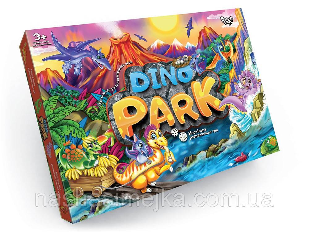 Настільна гра-ходилка Dino Park (Парк динозаврів) 3+ (Danko Toys)