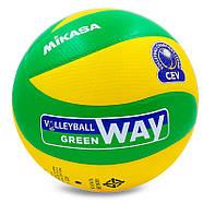 Мяч волейбольный клееный Mikasa MVA-200CEV оригинал, фото 2