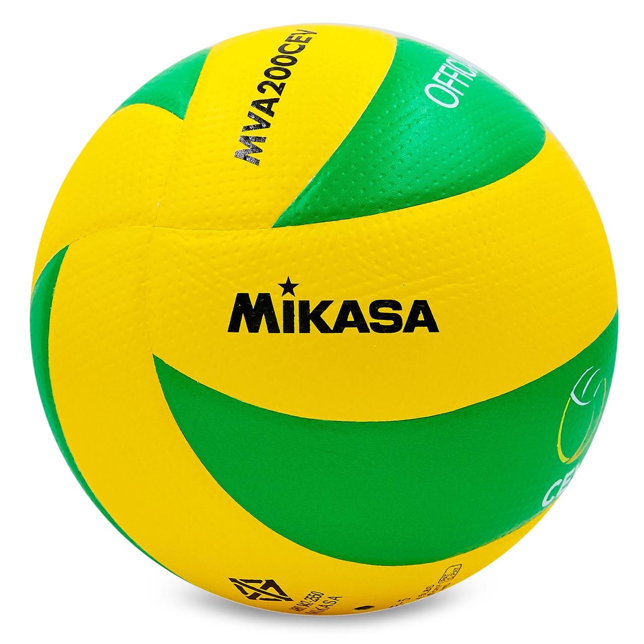 Мяч волейбольный клееный Mikasa MVA-200CEV оригинал
