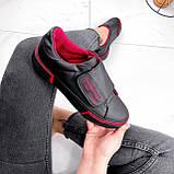 Кроссовки женские Greg черные с красным 2847, фото 4