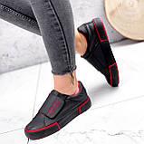 Кроссовки женские Greg черные с красным 2847, фото 6