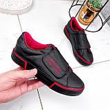 Кроссовки женские Greg черные с красным 2847, фото 5