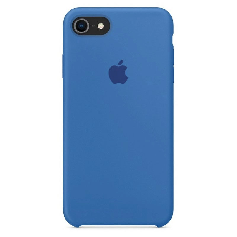 Чехол Silicone Case (Premium) для iPhone 7 / 8 / SE Denim Blue