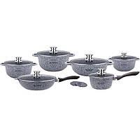 Набор посуды с гранитным покрытием 14 предметов Edenberg EB-8145