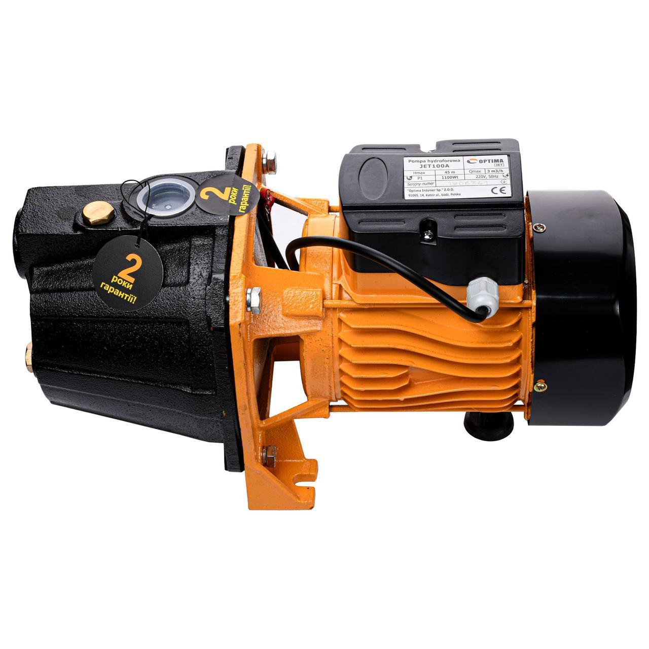 Насос центробежный Optima JET100A 1,1 кВт чугун короткий