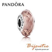 Шарм Pandora РОЗОВЫЙ ОГРАНЕННЫЙ КРИСТАЛЛ 791729NBP серебро 925 хрусталь Пандора оригинал