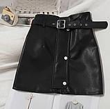 Кожаные женские юбки с ремнём, фото 3