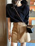 Кожаные женские юбки с ремнём, фото 5