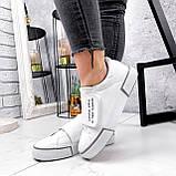 Кроссовки женские Greg белые с серым 2848, фото 5