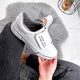 Кроссовки женские Greg белые с серым 2848, фото 8