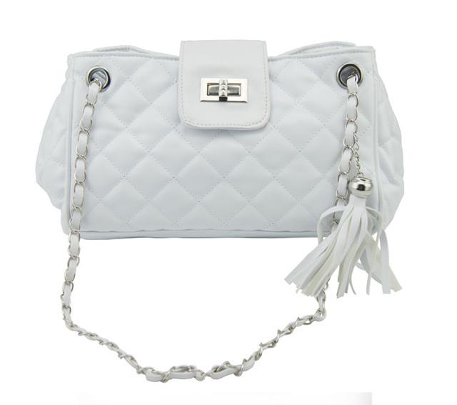 Женская сумочка через плечо W25 white вид спереди
