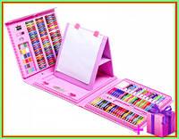 """Набор для рисования детский """"Чемодан творчества 208 предметов"""" , набір для малювання, для детей розовый"""