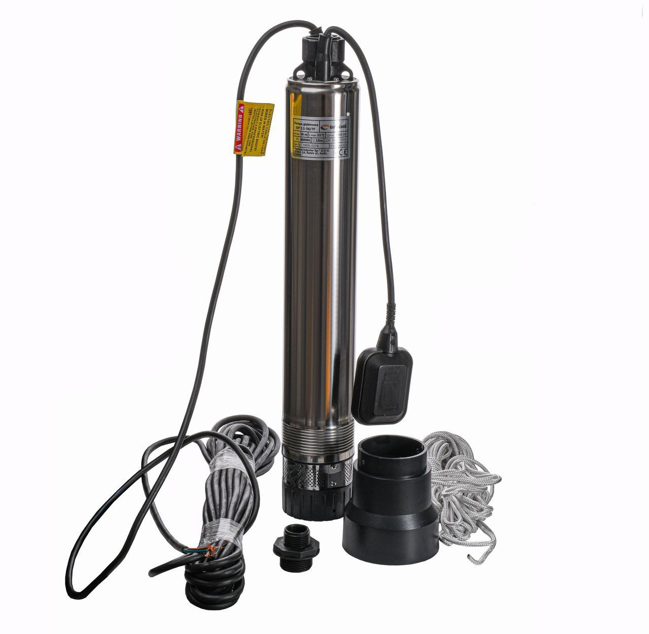 Насос колодезный Optima OP 5,1-56/7 F 0,8 кВт с поплавком