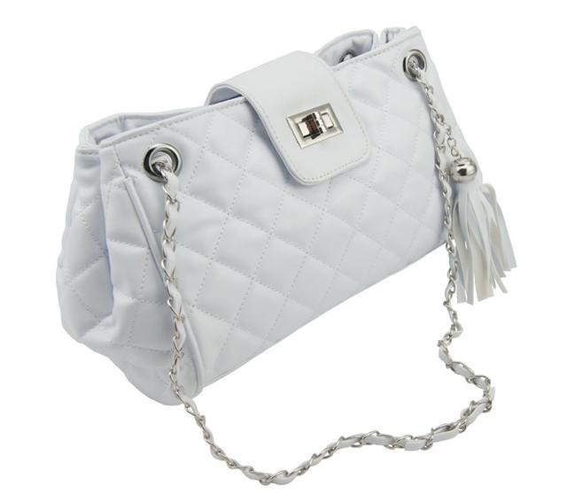 Женская сумочка через плечо W25 white вид сбоку