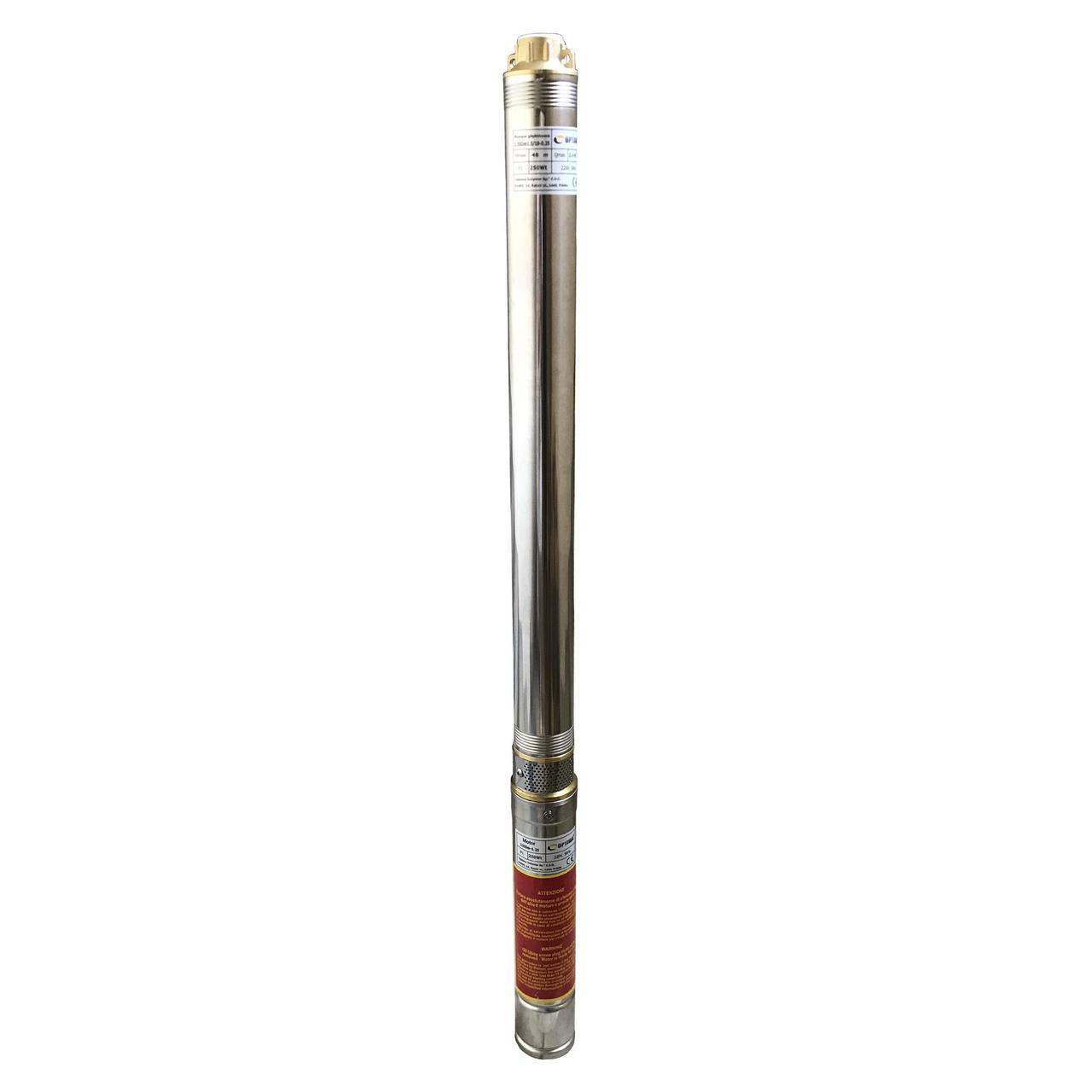 Насос скважинный центробежный Optima 2.5SDm1,5/25 0,37 кВт 67 м + кабель 15 м и пульт