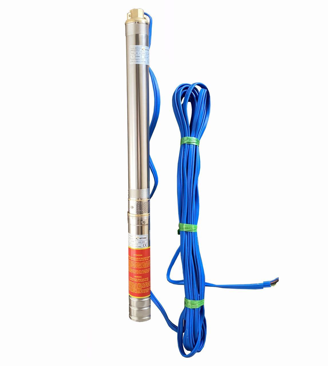Насос скважинный центробежный Optima 3SDm1,8/15 0,37 кВт 61 м + кабель 30 м и пульт