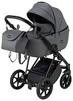 Детская коляска Bair Infinity кожа 100% BI-2233-AMO graphite (графит), фото 1