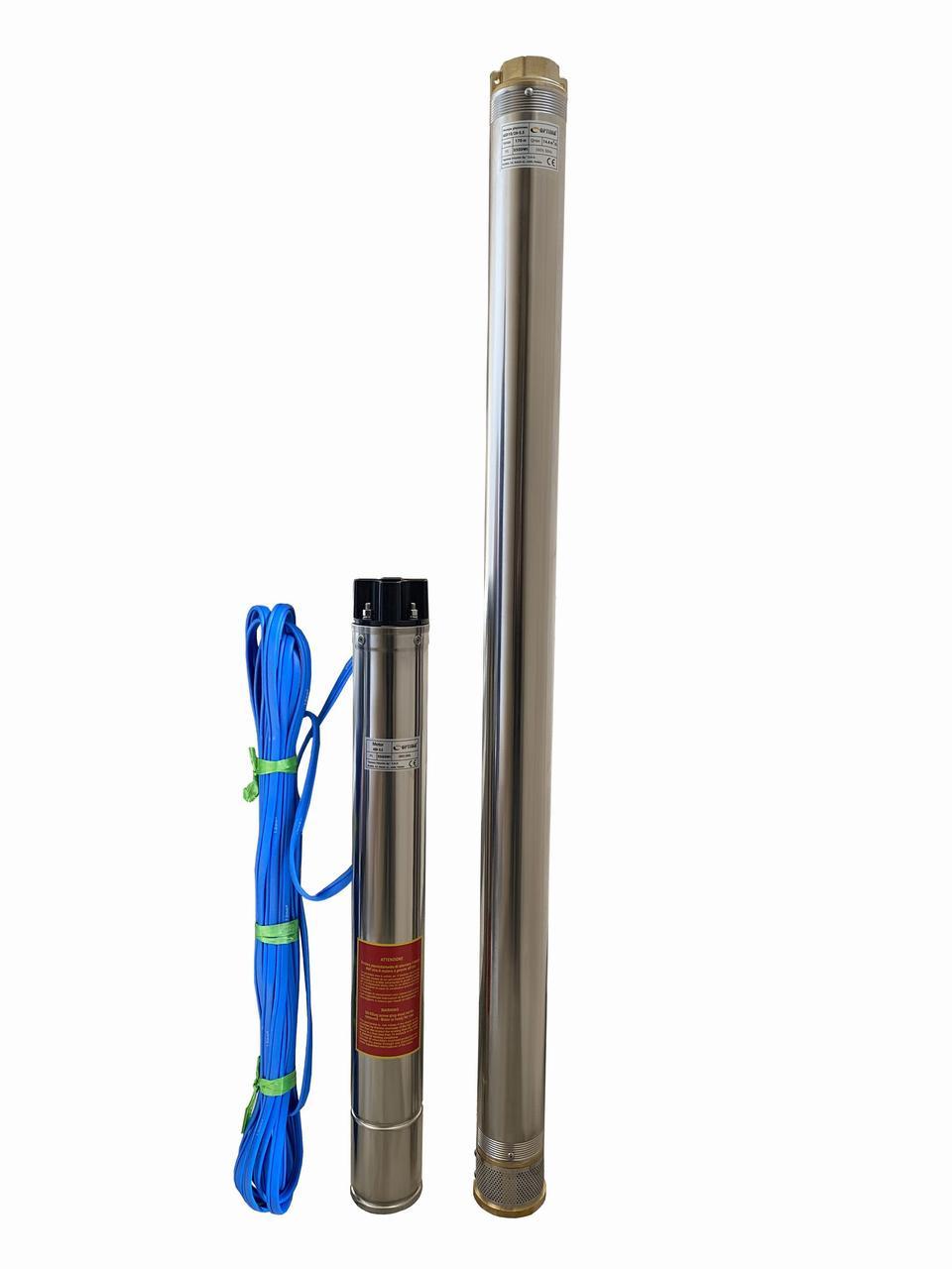 Насос скважинный центробежный Optima 4SD10/28 5.5 кВт 170 м 3-х фазный