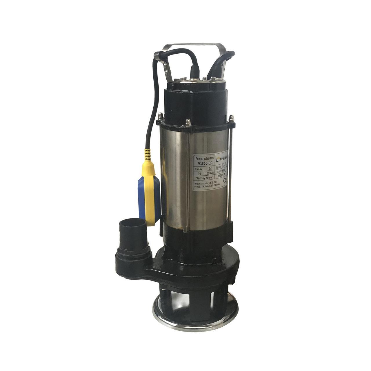 Насос фекальный с режущим механизмом Optima V1500-QG 1,5 кВт