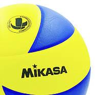 Мяч волейбольный клееный Mikasa MVA-310 оригинал, фото 2