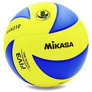 Мяч волейбольный клееный Mikasa MVA-310 оригинал, фото 3