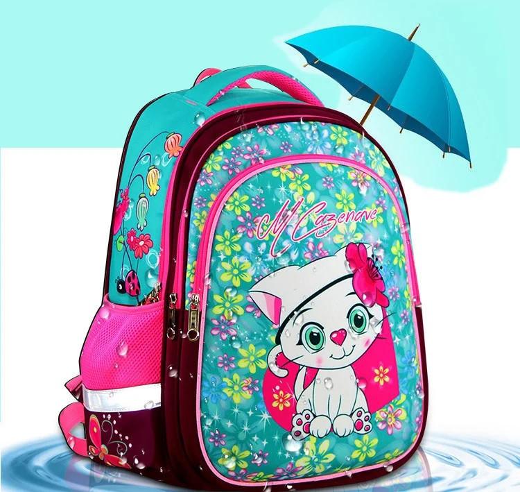 Рюкзак школьный Котенок для девочки ортопедический в первый 1 2 3 4 класс
