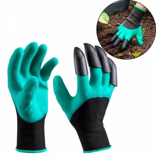 Перчатки для садоводства и огорода с когтями, резиновые, 104782
