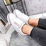 Кроссовки женские Greg белые с розовым 2849, фото 2