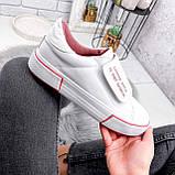 Кроссовки женские Greg белые с розовым 2849, фото 4