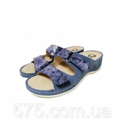 Шлепанцы женские Mubb (7207-1-04) Синий