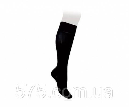 Компресійні Гольфи медичні чоловічі Cotton Бавовна 2 клас стандартні (чорні)