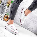 Кроссовки женские Greg белые с бордовым 2850, фото 2