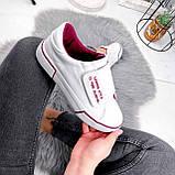 Кроссовки женские Greg белые с бордовым 2850, фото 4