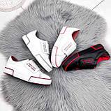 Кроссовки женские Greg белые с бордовым 2850, фото 6