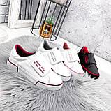 Кроссовки женские Greg белые с бордовым 2850, фото 7