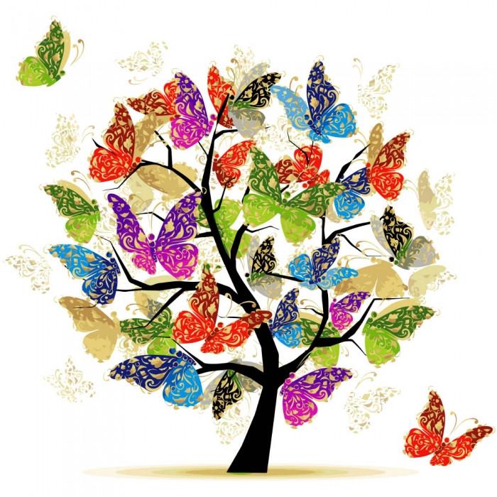 Картина по номерам - Дерево надежды Идейка 40*40 см. (КНО5507)