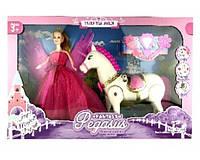 Лошадь 686-788 (18шт) ходит, с куклой и аксессуарами,в кор.55*34*9 см