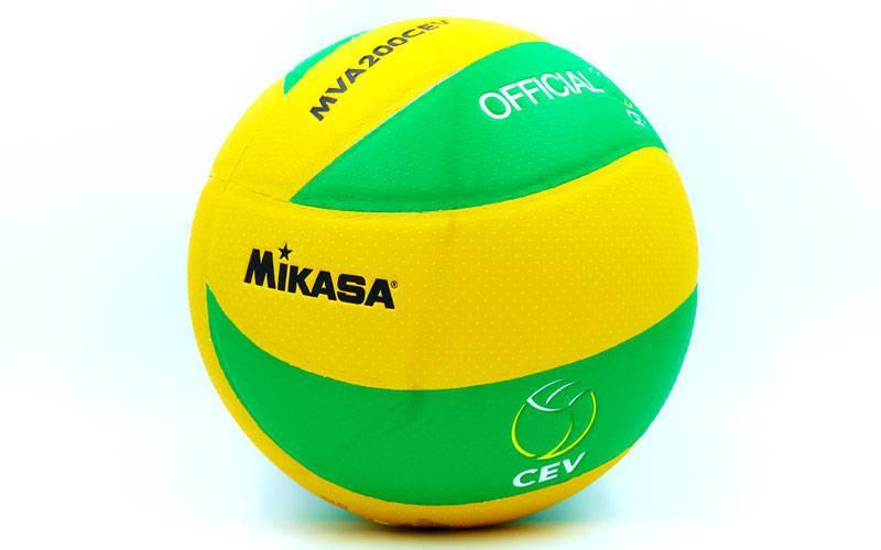 Мяч волейбольный клееный  Mikasa MVA-200CEV