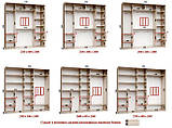 Шкаф купе 3-х дверный с лакобелем, фото 6