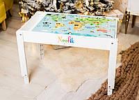 Детский световой стол-песочница Noofik МДФ Стандарт Белый sts001mdf, КОД: 1347866