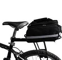 """Велосумка, велосипедная раскладная сумка-штаны """"Трансформер""""на багажник,велобаул, сумка на багажник велосипеда, фото 1"""