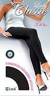 Леггинсы женские х/б Lady Classic Cotton 350 Den, 2, 3, 4 размеры, чёрные