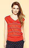 Zaps блуза Rosalina красного цвета, коллекция весна-лето 2021.