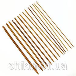 Крючок бамбуковый для тунисского вязания, N8.