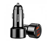 Зарядное устройство для телефона в авто Baseus Magic Series Dual QC 45W Black
