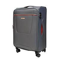 Легкий текстильный чемодан на 4-х колесах Airtex серый, фото 1