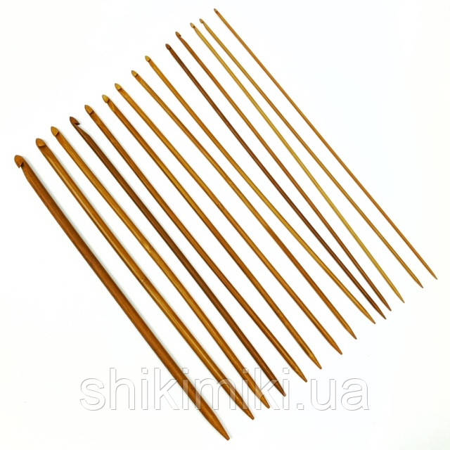 Крючок бамбуковый для тунисского вязания, N6,5