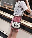 Брендовые женские сумки цепочка через плечо стиль винтаж с заклепками, фото 4