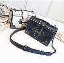 Брендовые женские сумки цепочка через плечо стиль винтаж с заклепками, фото 7