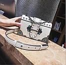 Брендовые женские сумки цепочка через плечо стиль винтаж с заклепками, фото 8